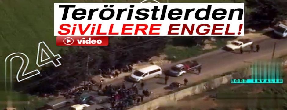 Teröristlerden sivillere engel