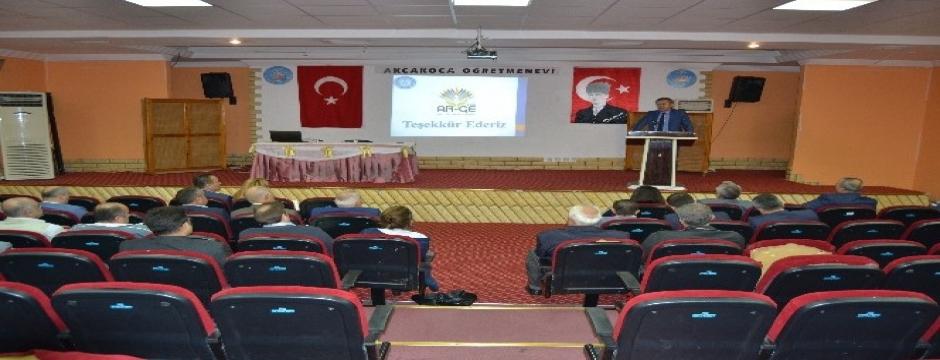 Milli Eğitim Müdürlüğünün projeler tanıtıldı