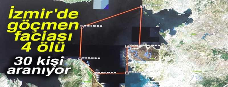 Göçmenleri taşıyan tekne battı: 4 ölü, 30 kayıp
