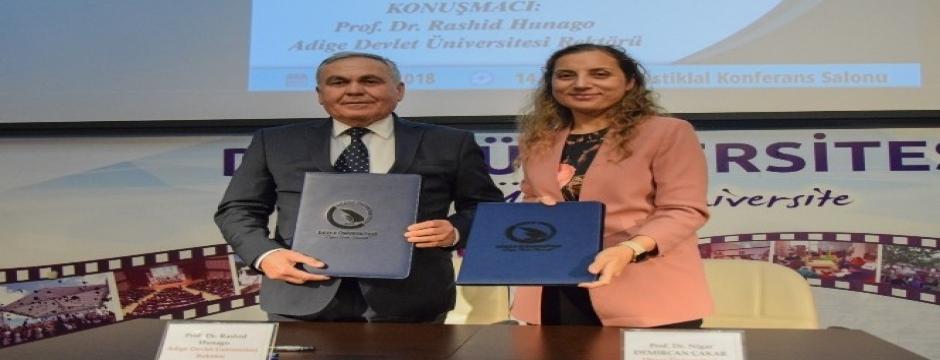 Düzce Üniversitesi Adige Devlet Üniversitesi ile iş birliğini artırıyor