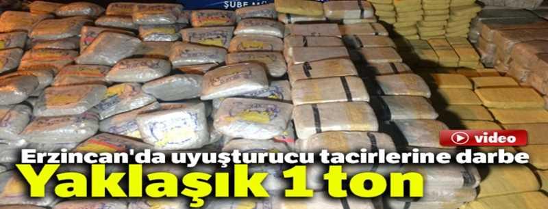 Erzincan'da uyuşturucu tacirlerine darbe: Yaklaşık 1 ton