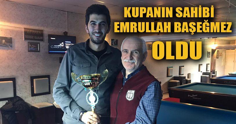 3 bant bilardo Atatürk kupası sahibini buldu