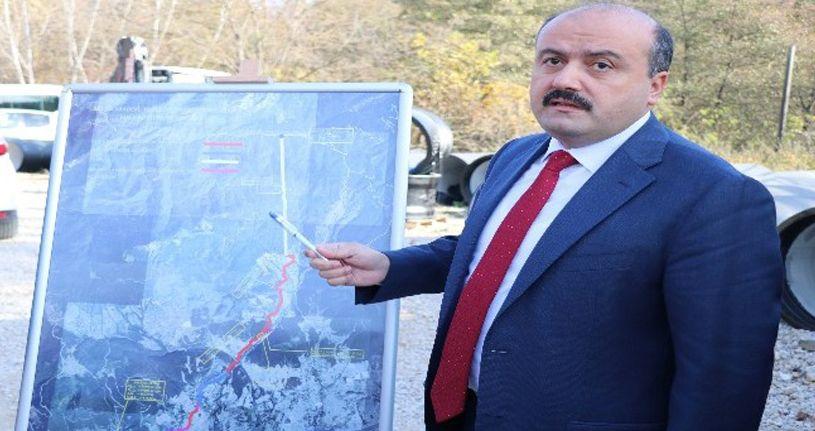Bakan Yardımcısı Metin, Karadere Tüneli'nde İncelemede Bulundu