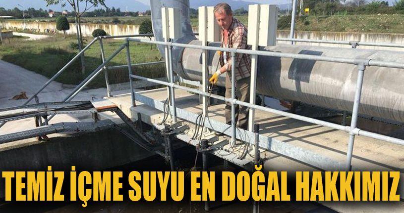 Su arıtma tesisinde bakım çalışması