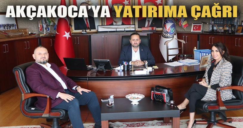 Başkan Yanmaz iş adamlarını Akçakoca'ya davet etti