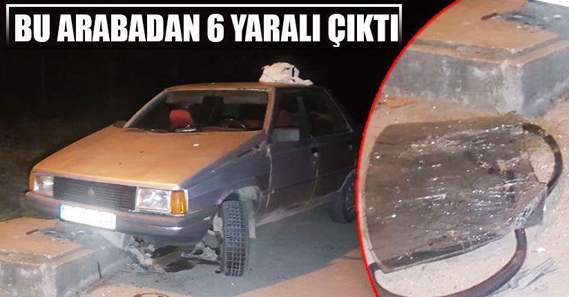 Otomobil Sulama Deposuna Çarptı