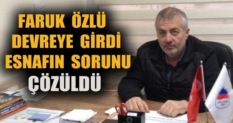 Hakan Özbakır'dan Faruk Özlü'ye Teşekkür