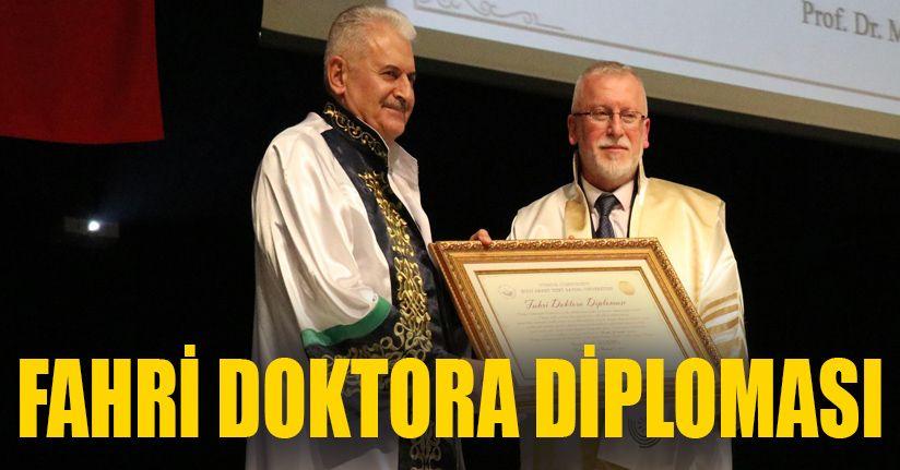Bolu'da, son Başbakan Yıldırım'a fahri doktora ünvanı verildi