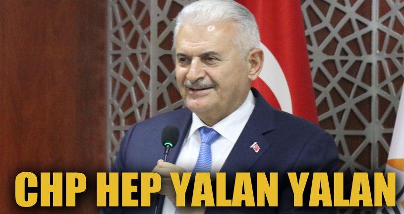 """Binali Yıldırım: """"CHP kendi içindeki kaynayan kazanı soğutmak için yalan üstüne yalan uyduruyor"""""""