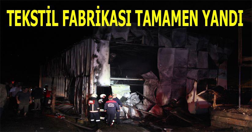 Fabrikada yangın paniğe neden oldu