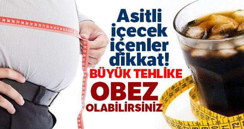 Asitli içecekler obeziteye yatkınlığı arttırıyor