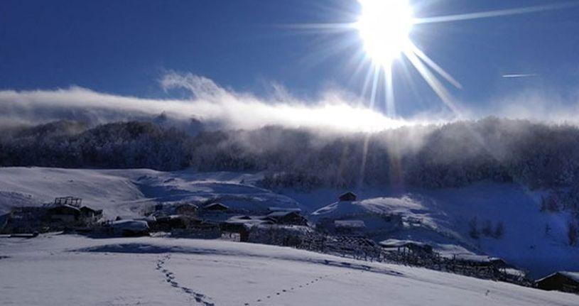 Kar muhteşem görüntüler oluşturdu