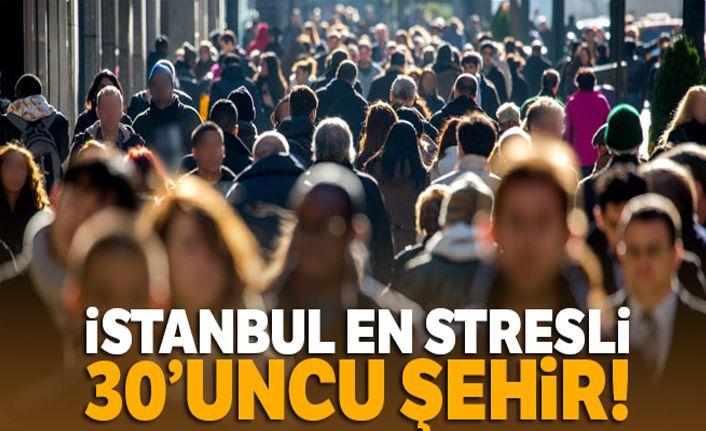 İstanbul en stresli 30'uncu şehir