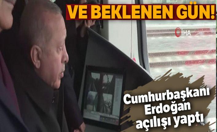 Cumhurbaşkanı Erdoğan, Halkalı-Gebze Banliyö Hattını açtı!