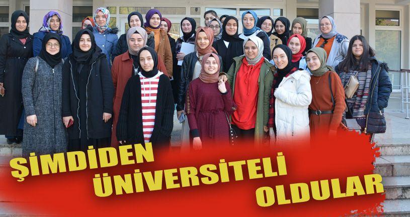 Lise öğrencileri Düzce Üniversitesi'ni ziyaret etti