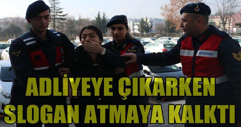 Kimlik kontrolünde yakalanan DHKPC'li kadın adliyeye sevk edildi