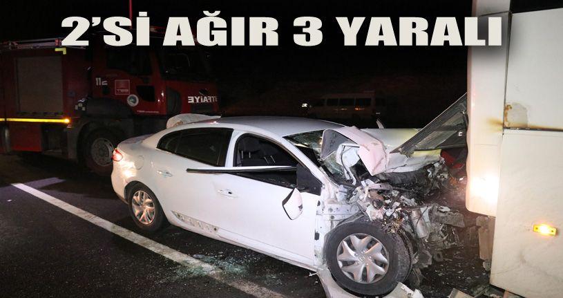 TEM'de trafik kazası: 2'si ağır 3 yaralı