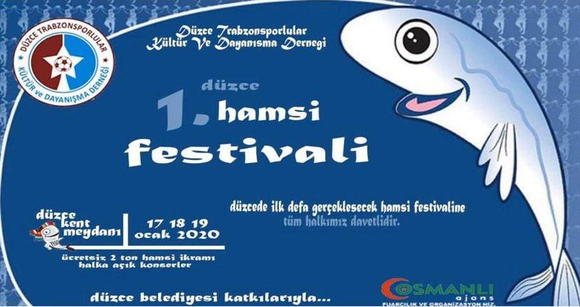 Düzce'de 1. hamsi festivali yapılacak