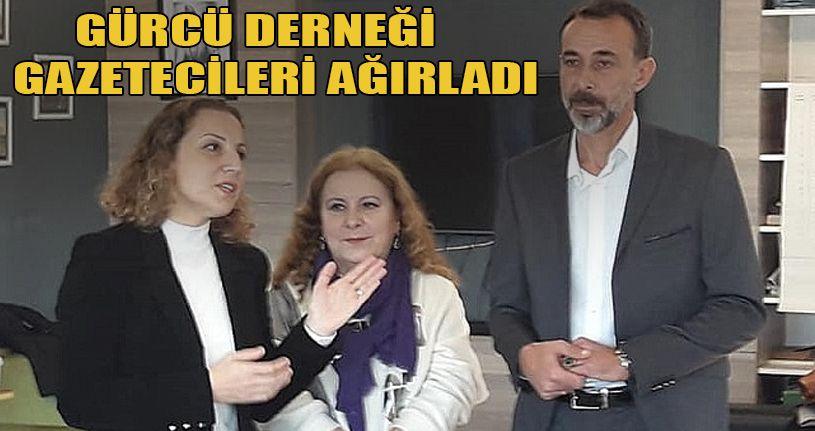 Gürcü Derneği Gazetecileri Ağırladı
