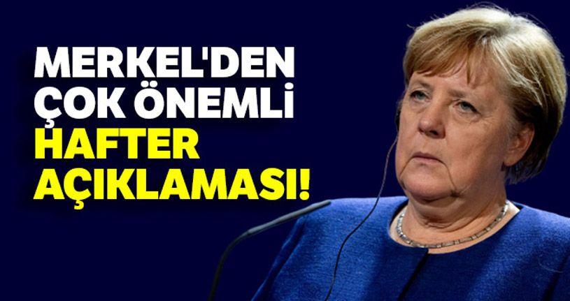Merkel: 'Hafter'in ateşkese istekli olması iyi bir mesaj'