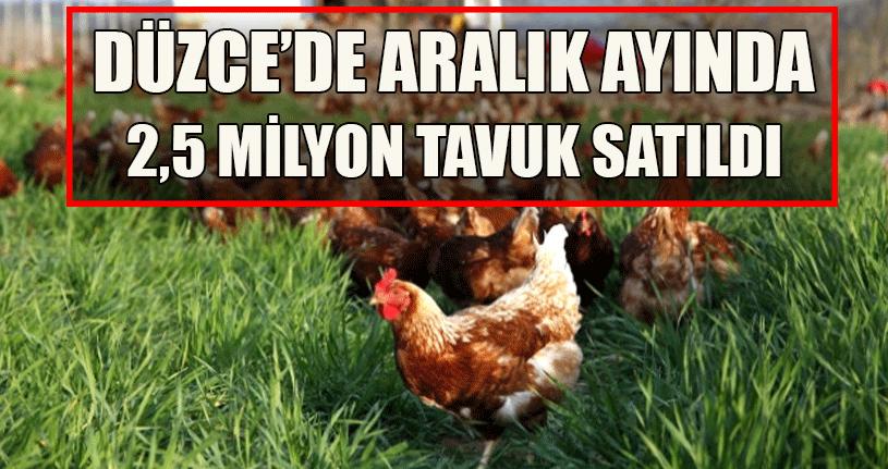 Aralık Ayında Milyonlarca Tavuk Satıldı