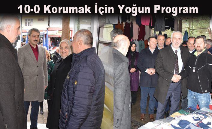 Keskin Cumayeri ve Beyköy'de destek istedi
