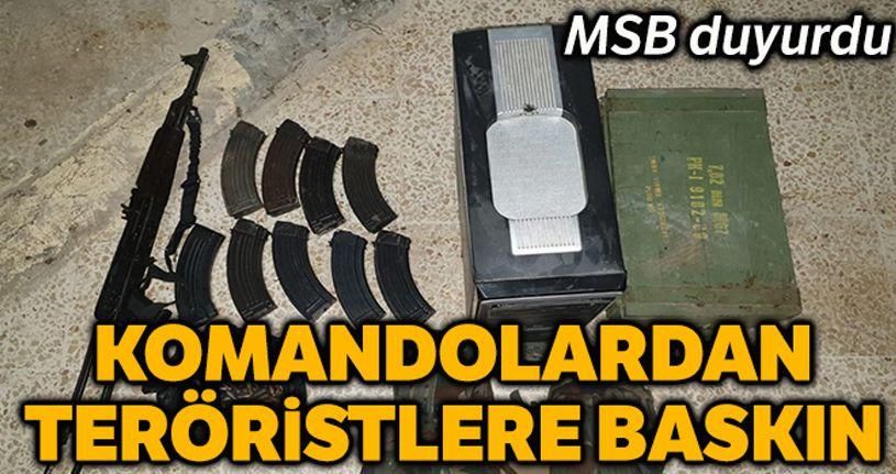 MSB: 'Tel Abyad'da eylem hazırlığında 4 terörist komandolar tarafından yakalandı'