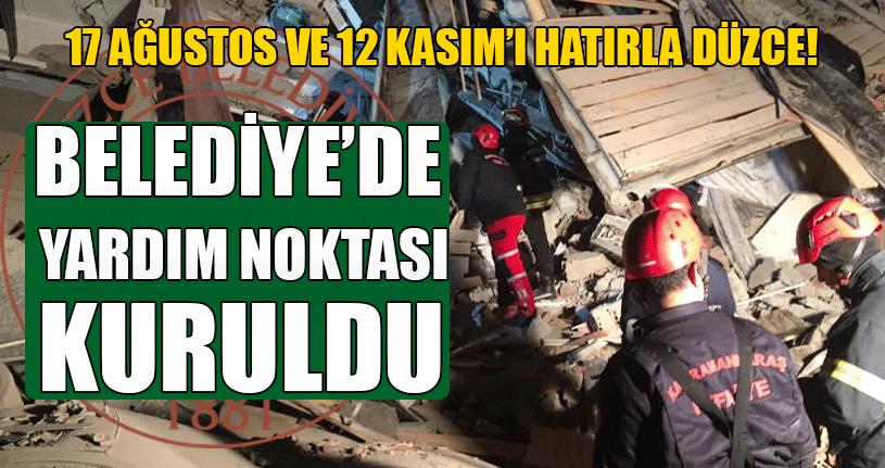 Belediye'den Deprem Bölgesine Yardım Eli