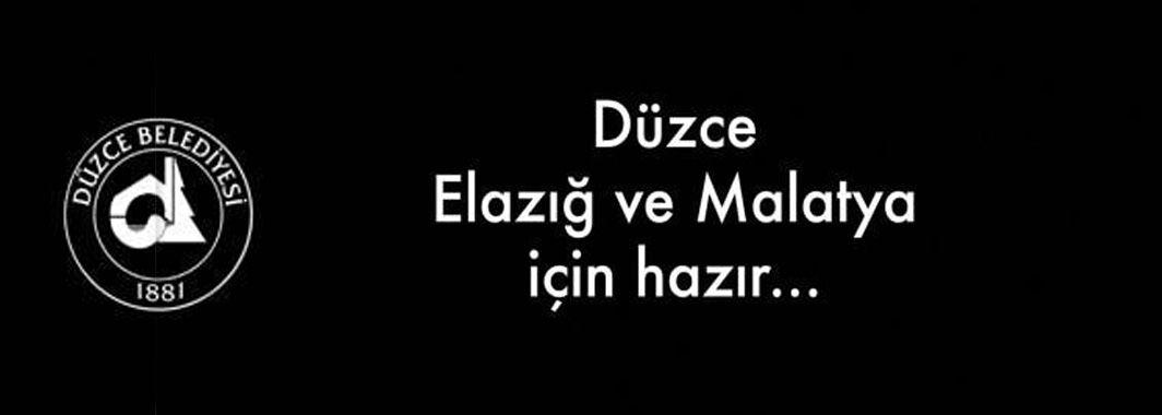 Düzce Belediyesinden Elazığ ve Malatya İçin Yardım Kampanyası