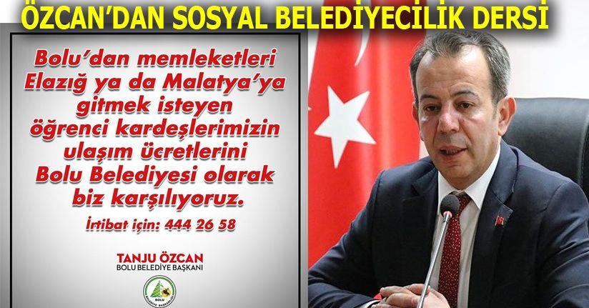 Özcan'dan Sosyal Belediyecilik Dersi