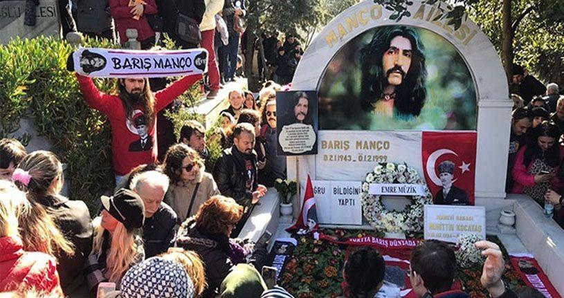 Barış Manço ölümünün 21. yılında mezarı başında anıldı