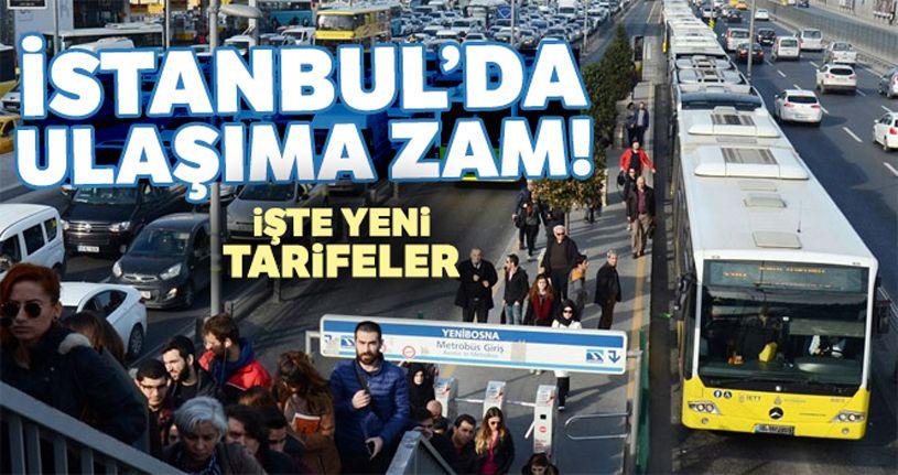 İstanbul'da ulaşıma yüzde 35 zam