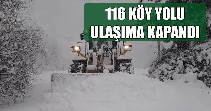116 Köy Yolu Ulaşıma Kapandı