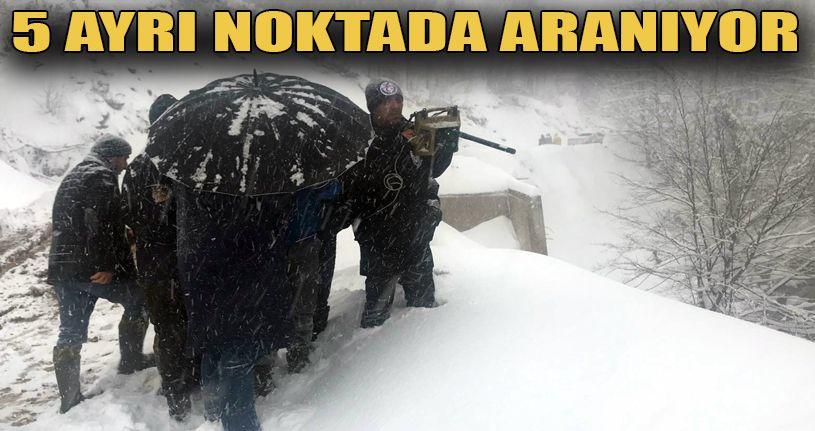 Kayıp Muhammet Yılmaz 1 metre karda aranıyor