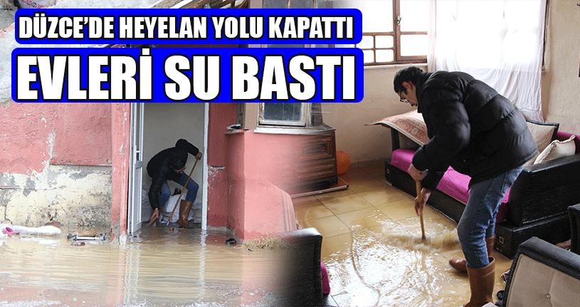 Yoğun Yağış Su Baskını Ve Heyelana Neden Oldu