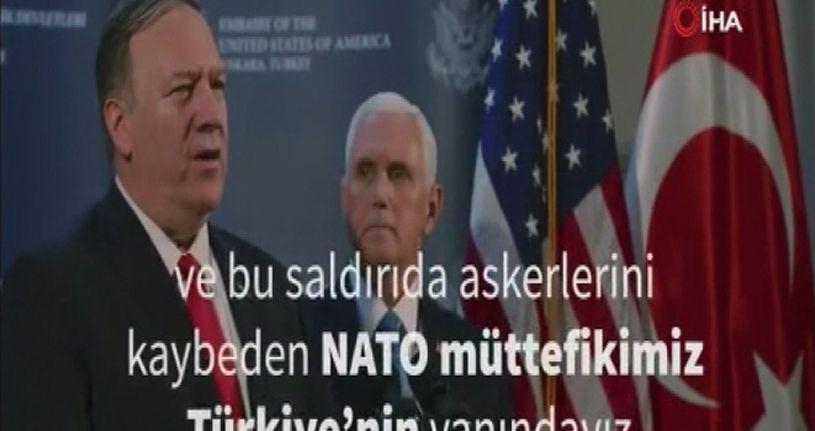 ABD Büyükelçiliği'nden İdlib paylaşımı: 'NATO müttefikimiz Türkiye'nin yanındayız'