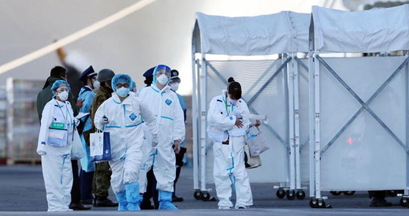 Japonya'daki karantina gemisinde 40 kişide daha korona virüsü tespit edildi