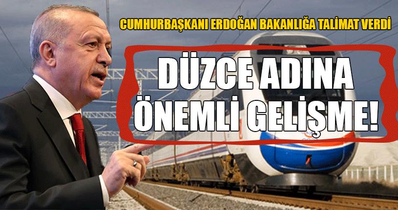 YHT Projesi Cumhurbaşkanı Erdoğan'ın Gündeminde