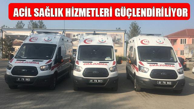 Türkiye'nin En Genç Ambulans Filolarından Biri Düzce'de