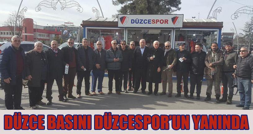 Gazetecilerden Düzcespor'a destek