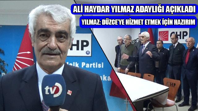 Ali Haydar Yılmaz Adaylığı Açıkladı