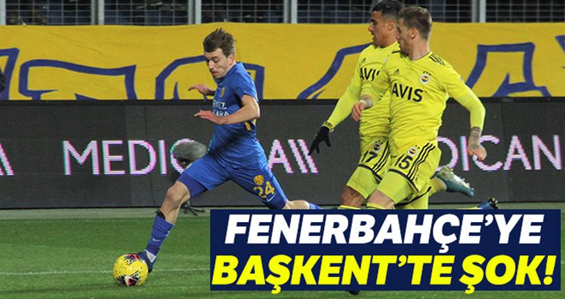 MKE Ankaragücü 2 - 1 Fenerbahçe