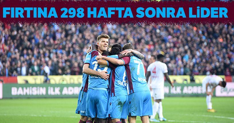 Trabzonspor 298 hafta sonra lider oldu