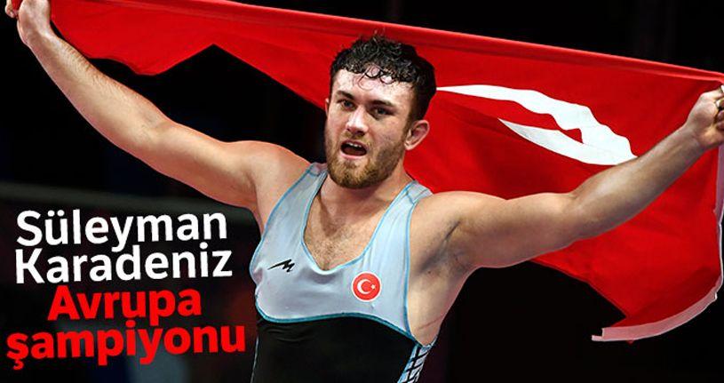 Süleyman Karadeniz'den altın madalya