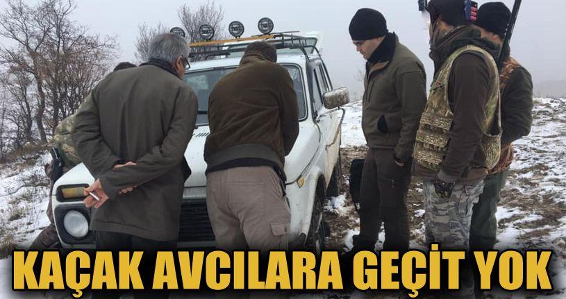 Kaçak avcılara 3 bin 829 lira ceza kesildi