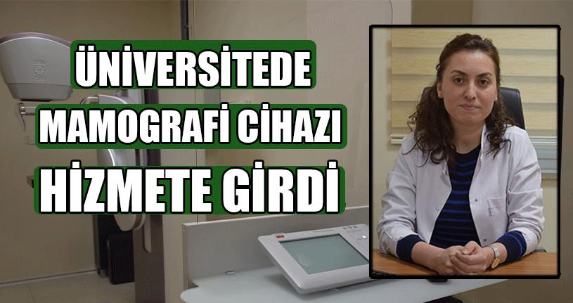 Üniversitede Mamografi Cihazı Hizmete Girdi
