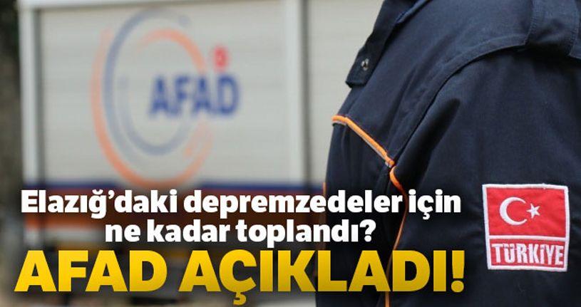AFAD'dan Elazığ için yapılan bağışlarla ilgili açıklama