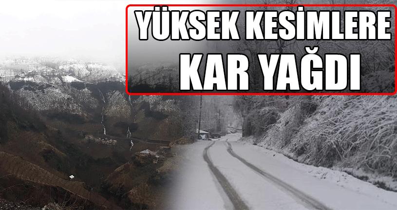 Köylerde Kar Kalınlığı 10 Santimetreyi Buldu