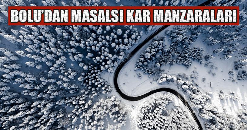 Kar Manzarası Görenleri Büyüledi
