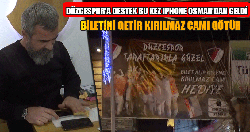 Düzcespor'a Destek Bu Kez IPhone Osman'dan Geldi